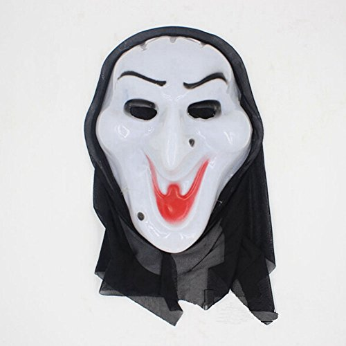 Zantec One Piece Halloween Bleeding Scream Scary Horror Ghost Mask Can Be Used During Dress Party Screaming