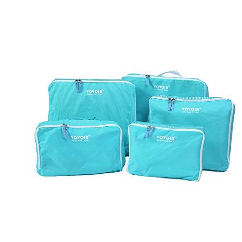 HJL 5Pezzi Cubo Sacchetto Cubi impermeabile imballaggio del sacchetto di viaggio Sei pezzi di set (I Migliori Bagaglio A Mano Viaggio)
