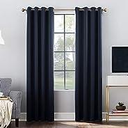Sun Zero Clarke Geometric Print Thermal Insulated Energy Efficient Grommet Curtain Panel