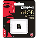 Kingston Carte SDHC/SDXC 64Go UHS-I SDCA10/64GB Classe 10 sans adaptateur