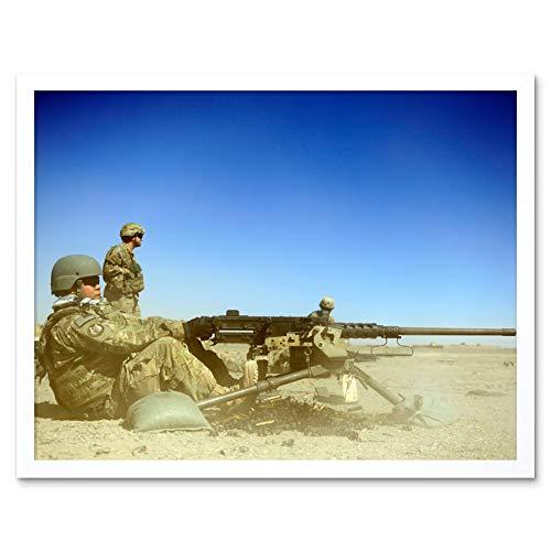 Military USA Air Force M2 50 Calibre Machine Gun Photo Art Print Framed Poster Wall Decor 12x16 inch Militär Vereinigte Staaten von Amerika Macht Fotografieren Wand Deko -