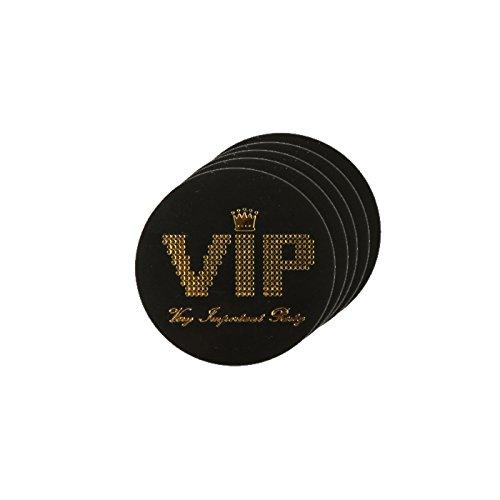 PARTY DISCOUNT NEU Konfetti VIP, Ø 3,5 cm, schwarz, 50 ()