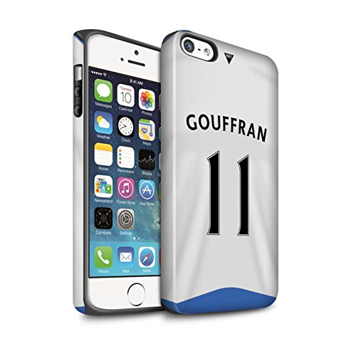 Offiziell Newcastle United FC Hülle / Matte Harten Stoßfest Case für Apple iPhone 5/5S / Pack 29pcs Muster / NUFC Trikot Home 15/16 Kollektion Gouffran
