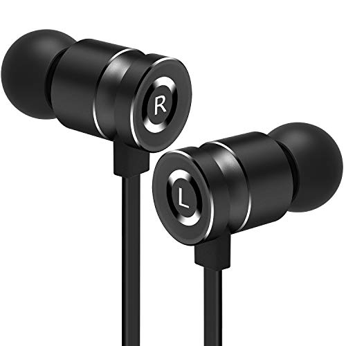 Gritin Auriculares Auriculares con Cable y Micrófono