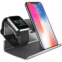 Apple Watch Stand, BENTOBEN PC iPhone Cargador Dock iWatch Soporte Docking iWatch Estación de Carga Station Soporte para iPhone X/8/8 plus/7/7 Plus/6S/6S Plus/6/6 Plus/5S/5/SE/Apple Watch Serie 1 2/iPad Mini 1 2 3/Huawei/Xiaomi