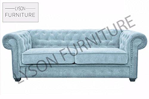 Lyson Furniture Imperial Sofa Bett (Chesterfield) Stoff