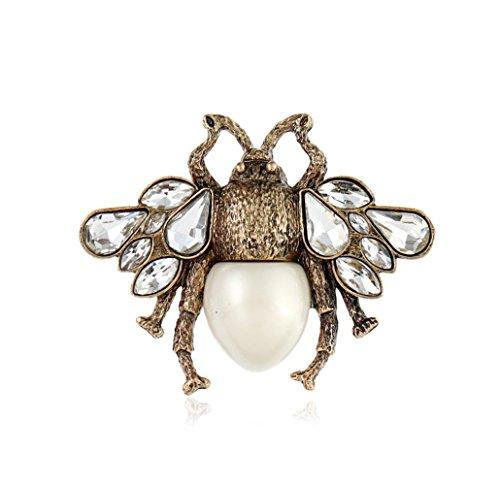 JUNGEN Biene Brosche Vintage Broschen Perlen Broschennadeln Damen Schmuck Zubehör