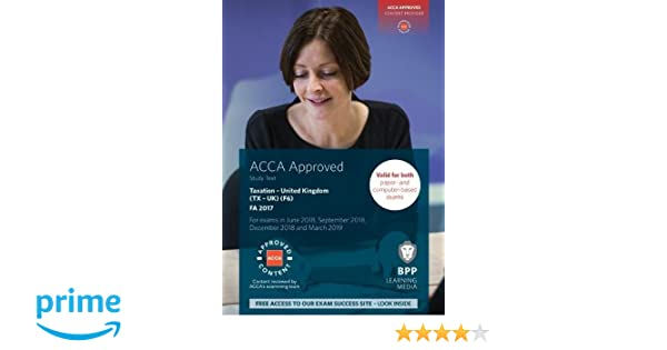 Acca f6 taxation fa2017 study text amazon bpp learning acca f6 taxation fa2017 study text amazon bpp learning media 9781509715329 books fandeluxe Image collections