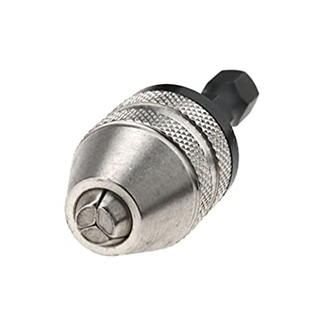 Adaptateur de Mandrin Automatique Foret Nouveau 1/4 '' Inch Keyless Drill Bit Chuck Changement rapide Adaptateur Convertisseur Hex Shank