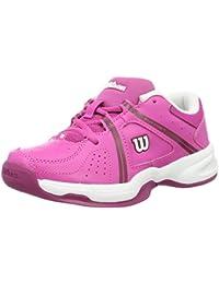 Wilson WRS322320E020, Zapatillas de Tenis Unisex Niños, Rosa (Rose Violet / White / Boysen Berry), 34 2/3 EU