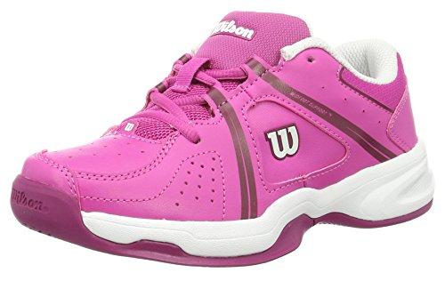 Wilson Envy Jr, Scarpe da Tennis Unisex-Bambini, Rosa (Rose Violet/White/Boysen Berry), 34 2/3 EU