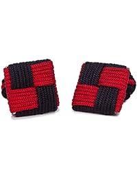 SoloGemelos - Gemelos Cuadrados Elásticos Rojo Y Negro - Negro, Rojo - Hombres - Talla Unica