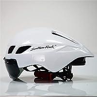 VVLOVE Casco de Bicicleta Riding Seguridad Casco de Bicicleta Resistente al Polvo Cubierta Adulto Casco de Bicicleta Montaña Casco, Color Blanco, tamaño 57-61