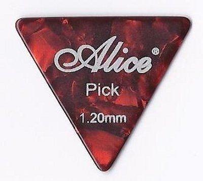 Confezione da 12 x Grande Triangolo Celluloide Plettri | Alice AP600L | per Acustica Elettrica Basso | 1.2mm