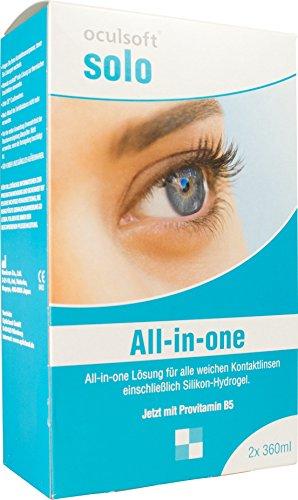 Oculsoft ® Solo All-in-One Lösung 2x 360ml Doppelpack Pflegemittel für Kontaktlinsen
