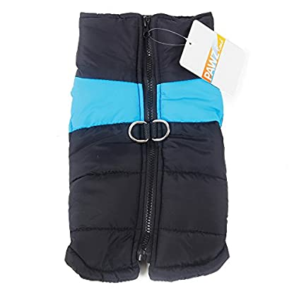 Pet Dog Cold Weather Coat Windproof, PAWZ Road Winter Warm Jacket With D Ring for Harness, Padded Vest Clothes For… 2