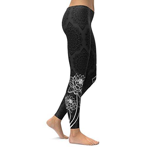 MAYOGO Damen Übung Stretch Yoga Hose Leggings Bäume Druck Strecken Strumpfhosen Shapewear Formende Bodys Skinny Hose Fitnesshose Sporthose Laufen Hosen S-XL