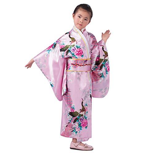 eid, Kleinkind Kinder Baby Outfits Kleidung Kimono Robe Japanisches Traditionelles Kostüm ()