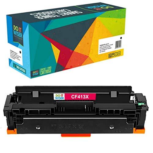 Do it Wiser Cartucho compatibles con HP Color Laserjet Pro M477fnw Toner HP 410X M452dn M452dw M477fdn M477fdw M452nw M377 410A CF413X CF413A (Magenta)