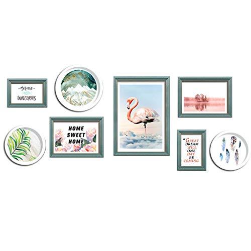 Photo frames Fotorahmen Fotowand/Modern Minimalist/Wandbehang Kombination/Wohnzimmer Fotowand/Schlafzimmer Hintergrundwand C