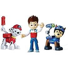Paw Patrol Action Pup Niño/niña Multicolor 3pieza(s) kit de figura de juguete para niños - kits de figuras de juguete para niños (3 año(s), Niño/niña, Multicolor, Patrulla Canina, 235 mm, 59,7 mm)