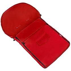Callyna ® - Chancelière bébé universelle imperméable, gigoteuse pour poussette landau luge. Rouge...
