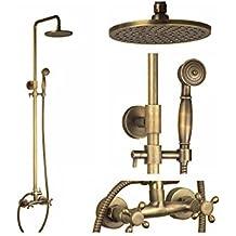 HomeLava Columna ducha Lluvia de 8 pulgadas + Ducha de Mano Mezclador Agua Fría y Caliente