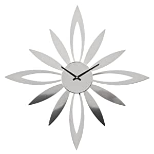 Premier Housewares 2200625 Horloge Murale Starburst Argenté