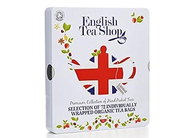English Tea Shop Assortiment de thé Bio en sachets Boîte en métal de 72 sachets