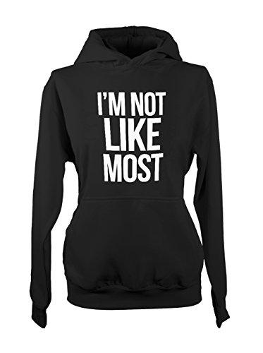 I'm Not Like Most Amusant Cool Femme Capuche Sweatshirt Noir