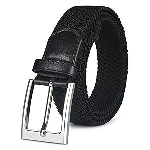 flintronic ® Cintura Uomo in Pelle, Cinture con Fibbia ad Ardiglione Elegante per Lavoro Casuale Jeans, con Portachiavi… 4 spesavip