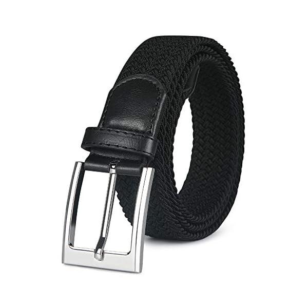 flintronic ® Cintura Uomo in Pelle, Cinture con Fibbia ad Ardiglione Elegante per Lavoro Casuale Jeans, con Portachiavi… 1 spesavip