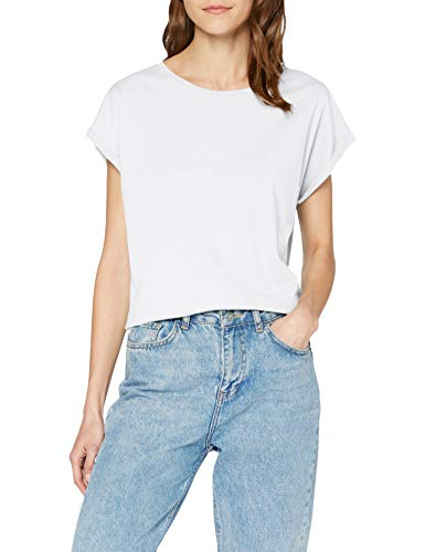 Urban Classics Damen T-Shirt Ladies Extended Shoulder Tee, Farbe white, Größe S