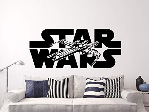 Hot Movie Star War X-flügel Wandaufkleber Dekoration Kinder Jungen Schlafzimmer zubehör muusticker Wand adesivo Kämpfer 42x100 cm