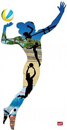 1art1 63610 Volleyball - Beach Volleyball Spielerin, Silhouette Wand-Tattoo Aufkleber Poster-Sticker 120 x 60 cm