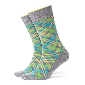 BURLINGTON Herren Socken Cadogan – 83% Baumwolle , 1 Paar, Versch. Farben, Einheitsgröße (40-46) – Strumpf mit Allover-Tartan-Muster ideal für Casuallooks