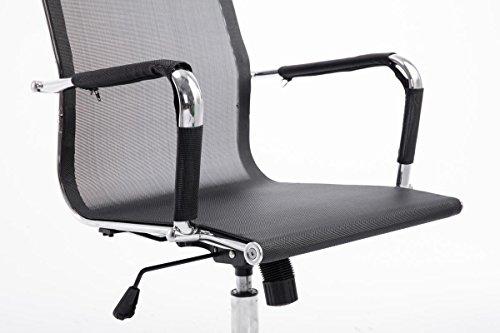 Clp sedia moderna ergonomica da ufficio paul con rivestimento in