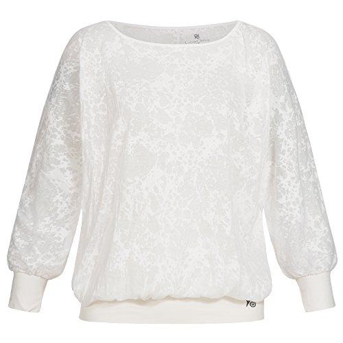 lilikoi Mujer Yoga Lifestyle Sport Paradise Camiseta Top bambú, mujer, color beige, tamaño extra-large