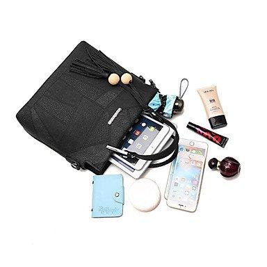 Dame Big Totes Bag Damen Handtasche Messenger Handtasche Crossbody Tasche Leder PU mit Nizza Gürtel und Perle Bolsos Mujer Bolsos Mujer Clover