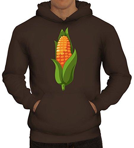 ShirtStreet Maiskolben Kostüm Hoodie für Mais Fans Getreide Verkleidung Karneval Fasching Dschungel Camp, Größe: ()