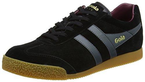 Gola Herren Harrier Suede Sneaker, Schwarz (Black/Grey/Burgundy), 41 EU (Gola Schwarz Schuhe)