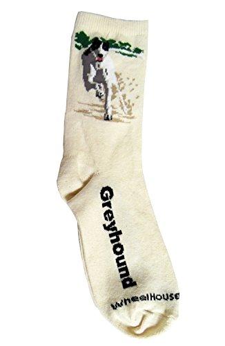 greyhound-dog-design-chaussettes-fantaisie-en-creme