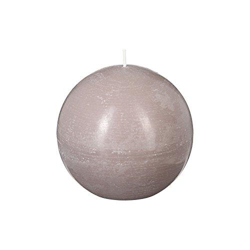 Bougie boule Rustic - Diam. 10 cm - Taupe