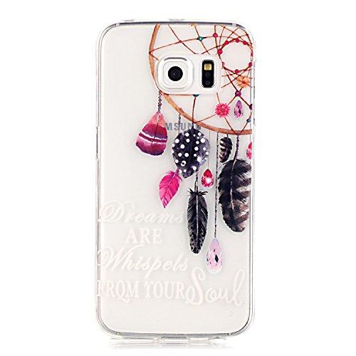 Preisvergleich Produktbild GUT® Galaxy S6 Edge Dream-Catcher Entwurf Hülle, Ultra Slim Dünn Silikon TPU Transparent für Samsung Galaxy S6 Edge Hülle mit einem Schirm-Schutz