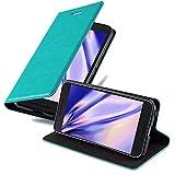 Cadorabo Coque pour LG Nexus 5X en Turquoise PÉTROLE - Housse Protection avec Fermoire Magnétique, Stand Horizontal et Fente Carte - Portefeuille Etui Poche Folio Case Cover