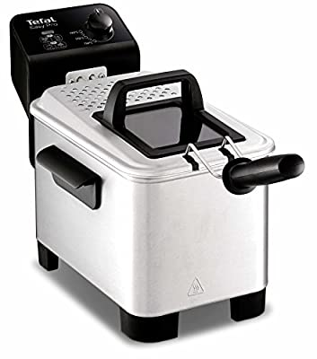 Tefal Easy Pro fr3330Solo autonome 3L 2200W Noir, Acier inoxydable–Friteuse 3L, 1,2kg, 150°C, 190°c, Solo, noir, acier inoxydable