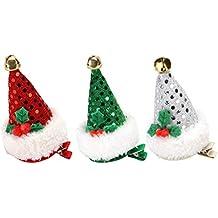 Amosfun 3pcs Cappelli per Capelli Cappello Santa Paillettes Barrette forcine  con Coccodrillo Rosso Accessori per Capelli afe06667555b