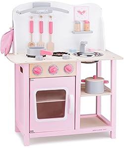 New Classic Toys Toys-11054 Kitchenette-Bon Appetit-Pink, Color Rosado (11054)