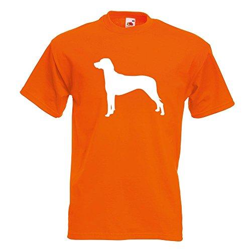 KIWISTAR - Ridgeback Rhodesian Hund T-Shirt in 15 verschiedenen Farben - Herren Funshirt bedruckt Design Sprüche Spruch Motive Oberteil Baumwolle Print Größe S M L XL XXL Orange