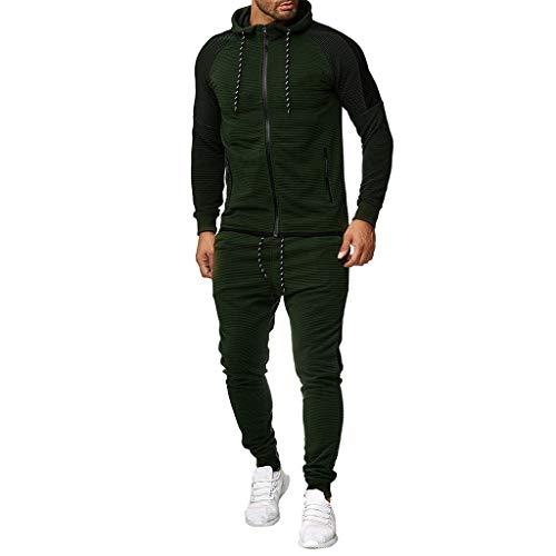 Setsail Herren Herbst Trend Gradient Zipper Print Sweatshirt Top Hosen Sets Sport Anzug Trainingsanzug Komfortanzug Persönlichkeit Zweiteiliges Sets Geeignet für Indoor- und Outdoor-Aktivitäten -